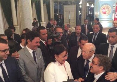 الرئيس التونسي يوجه التحية لمصر في لقائه مع ضيوف «قرطاج»