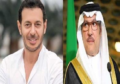 السفير السعودي ومصطفى شعبان