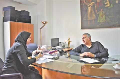 محررة الشروق تحاور محمد حفظي تصوير زياد أحمد