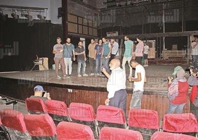 اعتصام مسرح السلام - تصوير: احمد عبد الفتاح