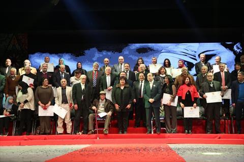 وزيرة الثقافة تكرم 80 شخصية ساهمت في كتابة تاريخ فرقة رضا