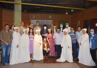 وزيرة الثقافة تشهد عرض «سيدة الفجر» بمسرح الطليعة