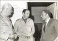 هيكل والشاذلي والمشير أحمد إسماعيل وزير الحربية أثناء حرب أكتوبر