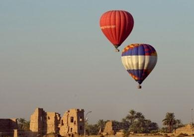 إقلاع 9 رحلات بالون طائر في سماء الأقصر