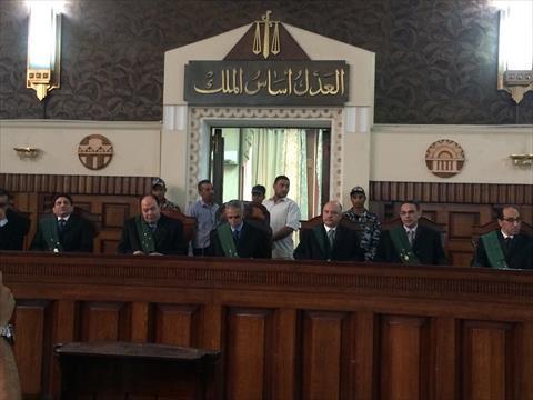هيئة المحكمة برئاسة المستشار فرحان بطران