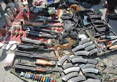 أسلحة آلية مضبوطة - أرشيفية