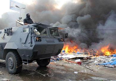 جانب من فض اعتصام رابعة العدوية - أرشيفية