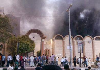 حريق كنيسة ماري جرجس بأسيوط - أرشيفية