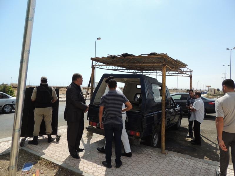 صورة أرشيفية لكمين أمني بمدخل محافظة مطروح