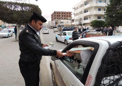 تحرير 1667 مخالفة مرورية متنوعة وحبس سائقين خلال حملة مرورية في المنيا