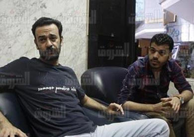 عمرو بدر ومحمود السقا معتصمين بنقابة الصحفيين - تصوير: هبه خليفة