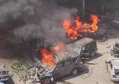 صورة متداولة لموقع الحادث على مواقع التواصل الاجتماعي