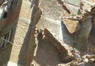 انهيار جزئي في عقار بالاسكندرية - ارشيفية