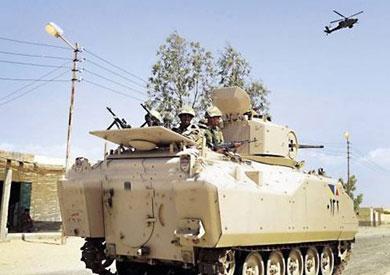 انتشار لرجال القوات المسلحة بشمال سيناء