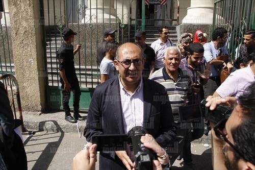 خالد علي فى محكمة شمال الجيزة - تصوير: لبنى طارق