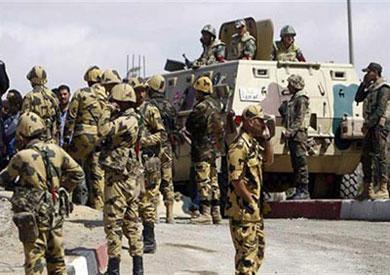 انتشار لقوات الجيش بشمال سيناء-ارشيفية