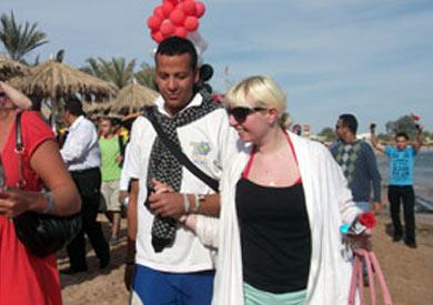 سياح فى جنوب سيناء