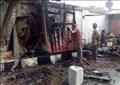 حريق كشك بجوار محطة قطارات الدقهلية