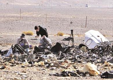 حادث سقوط الطائرة الروسية فى سيناء تصوير احمد عبد الفتاح