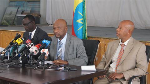 مؤتمر صحفي لوزير المياه الإثيوبي