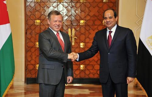 قمة الرئيس السيسي والعاهل الأردني عبد الله الثاني