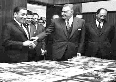 محمد حسنين هيكل و جمال عبد الناصر