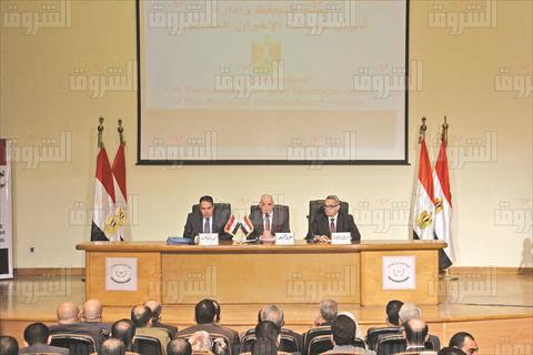 مؤتمر لجنة حصر اموال الاخوان تصوير احمد عبد الفتاح