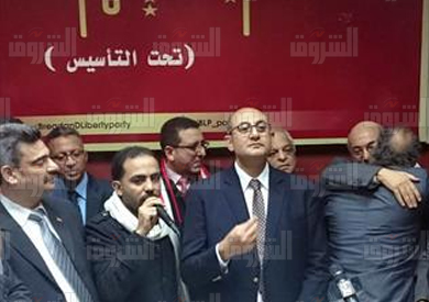 مؤتمر صحفى لخالد على بحزب العيش والحرية تصوير احمد عبد الفتاح