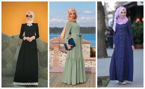 9e674ee4e 10 تصاميم لفساتين محجبات «كاجوال» يمكن تنفيذها بسهولة