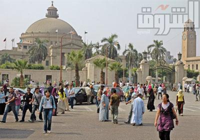 رئيس جامعة القاهرة يؤكد أن  كاميرات المراقبة تعمل بكفاءة – أرشيفية