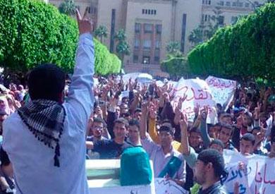 تظاهرات بجامعة أسيوط