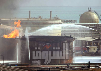 خلال إطفاء حريق شركة النصر للبترول