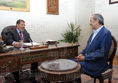 خلال لقائي مرسي في مكتبه الرئاسي