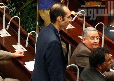 محمد عبد العزيز، ممثل حركة تمرد في لجنة الخمسين - تصوير: جيهان نصر
