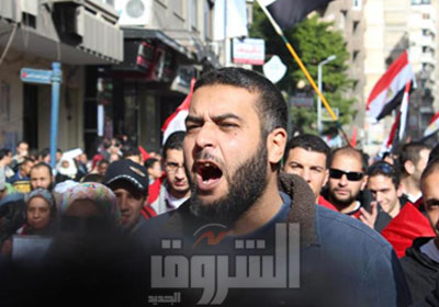 سلامة أثناء مشاركته فى ثورة 25 يناير