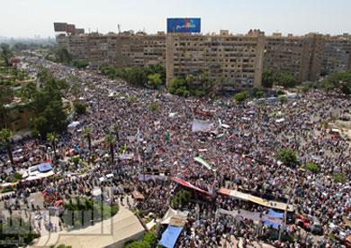جانب من اعتصام أنصار مرسي في ميدان رابعة العدوية - تصوير: أحمد عبداللطيف