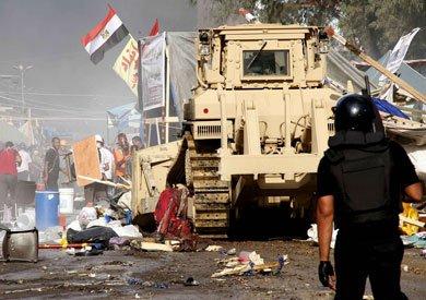 اعتصام «رابعة» بدأ سلميا وتحول إلى مسلحا وقوات الأمن تعاملت بعدم تركيز- أرشيفية