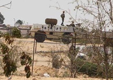 قوات الجيش أثناء تمشيط سيناء من البؤر الإجرامية