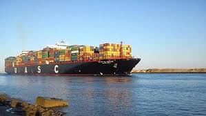 سفينة حاويات دنماركية عملاقة تتصدر القافلة الشمالية لقناة السويس
