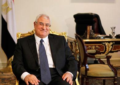 المستشار عدل منصور، الرئيس المؤقت