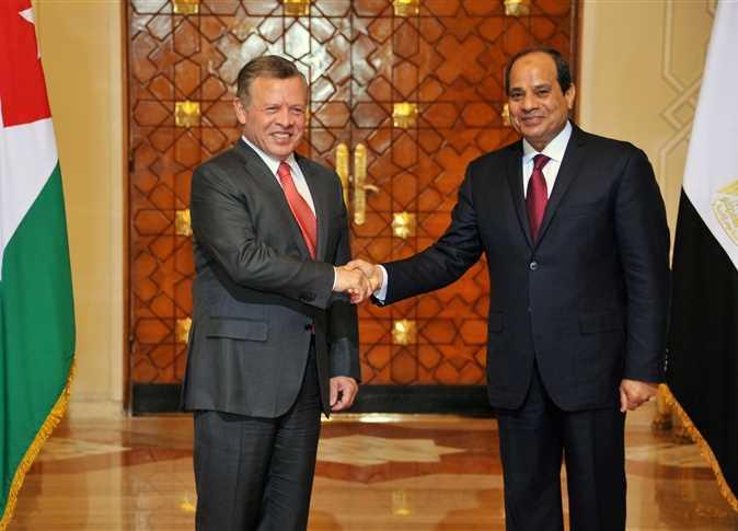 الرئيس عبدالفتاح السيسي و الملك عبد الله الثانى عاهل الأردن