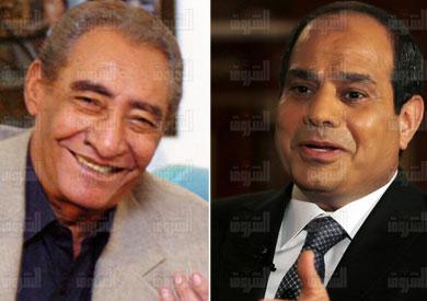 الرئيس عبد الفتاح السيسي، والشاعر عبد الرحمن الأبنودي