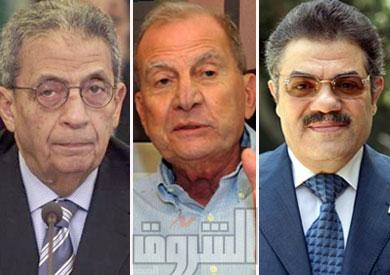 السيد البدوي ومحمد ابو الغاز وعمرو موسي
