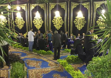 نادي القضاء يقيم عزاء النائب الشهيد بحضور مساعده وشخصيات عامة