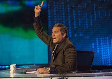 الإعلامي باسم يوسف في إحدى حلقات برنامج «البرنامج»