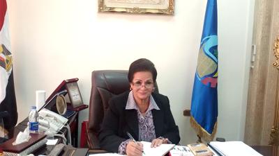 المهندسة نادية عبده التي تم اختيارها لتشغل منصب مُحافظ البحيرة