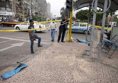 آثار التفجير بمنطقة الدقي، من الأعمال التخريبية المنتسبة لأجناد مصر - تصوير: مجدي إبراهيم
