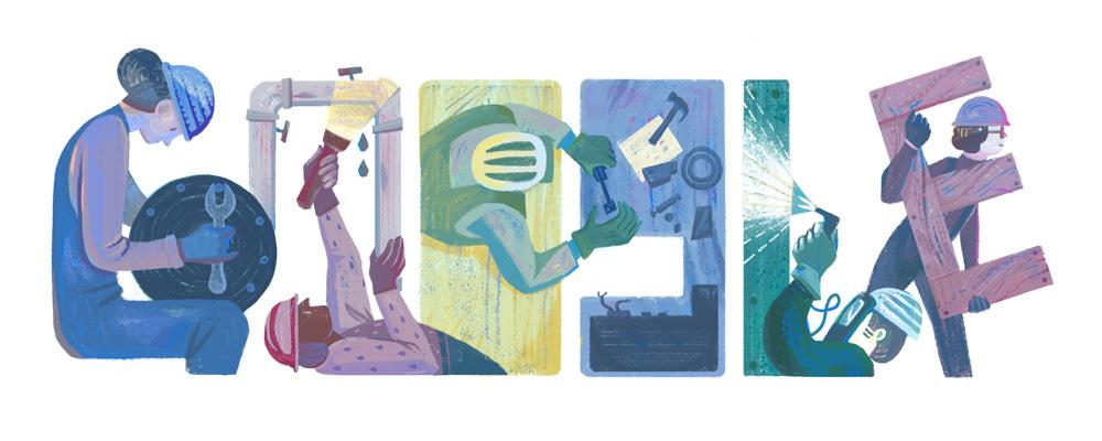 «جوجل» يحتفل بعيد العمال