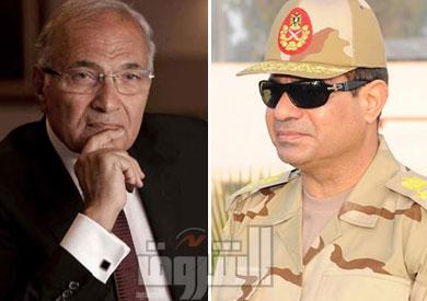 المشير عبدالفتاح السيسي ــ الفريق أحمد شفيق