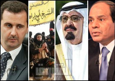 عبد الفتاح السيسي - الملك عبدالله - داعش - بشار الأسد